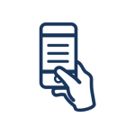 Information on hand icon